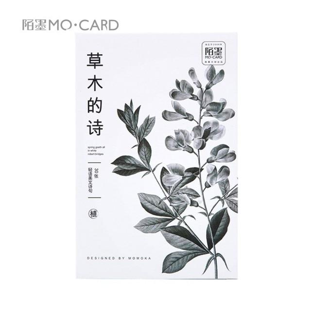 30pcs/lot Cute Herb Plants Postcards Art Paniting DIY Greeting Card