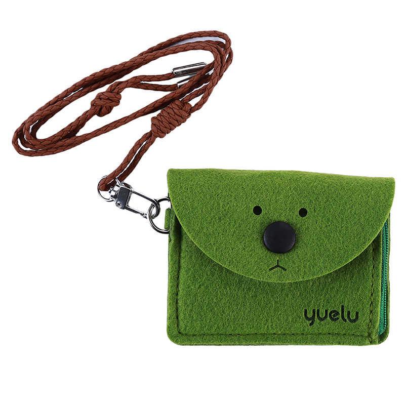 2019 мультфильм Медведь кошелек для монет для девочек кошелек для ключей Студенческая креативная коробка животные ID карта пакет с пряжкой рисовая карта сумка