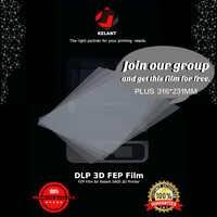 Película FEP de 5 piezas para impresora 3D Foton 0,15-0,2mm película Fep 316x231mm para kelant accesorios de piezas de Impresora 3d S400