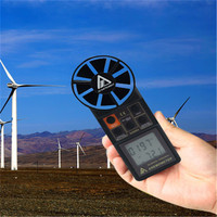 Портативный Компактный анемометр ветер Скорость метр Датчики воздушного потока