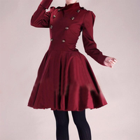 2015 New Autumn Long Sleeve Women Princess Dress Gothic Dress Ball Gown 18th Century Dress Vintage