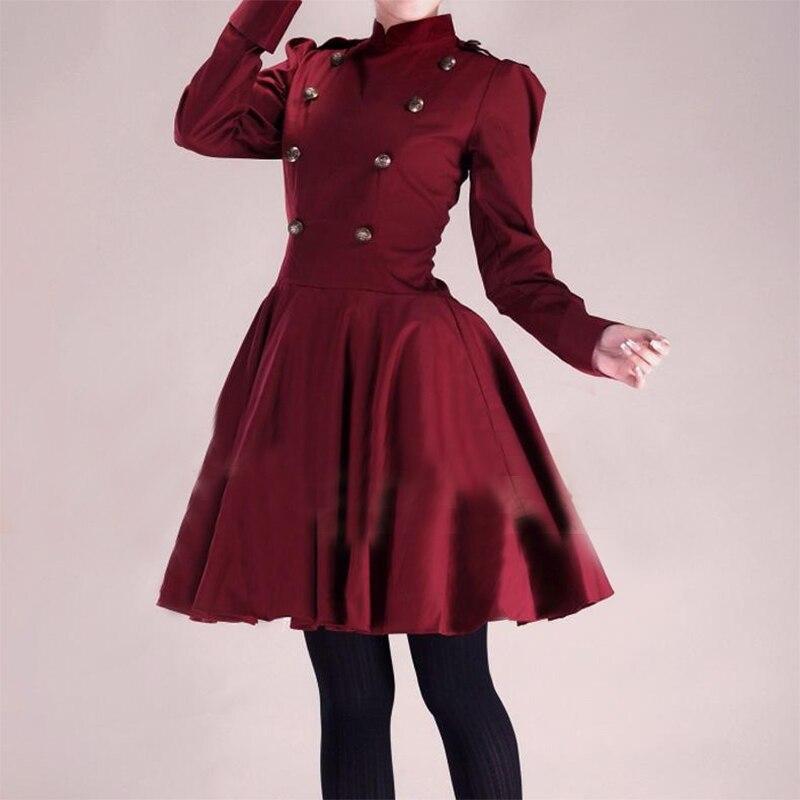 2015 nouveau automne à manches longues femmes robe de princesse robe gothique robe de bal 18th Century robe Vintage londres gothique robe victorienne