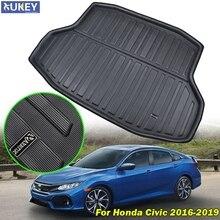 Pour Honda Civic berline, plateau de botte, tapis de sol, coffre arrière, protection de la boue, pour Honda Civic Sedan 2016 2017 2018 2019 10e génération