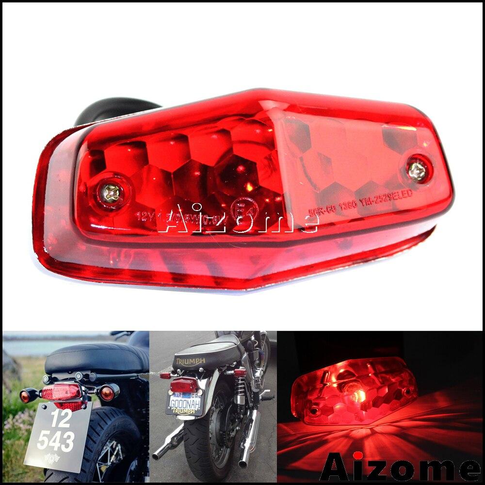 Motorcycle Tail Light Red Rear Lamp Lucas 564 Style British Brake Light For Triumph Bonneville Cafe Racer Scrambler Stop Light