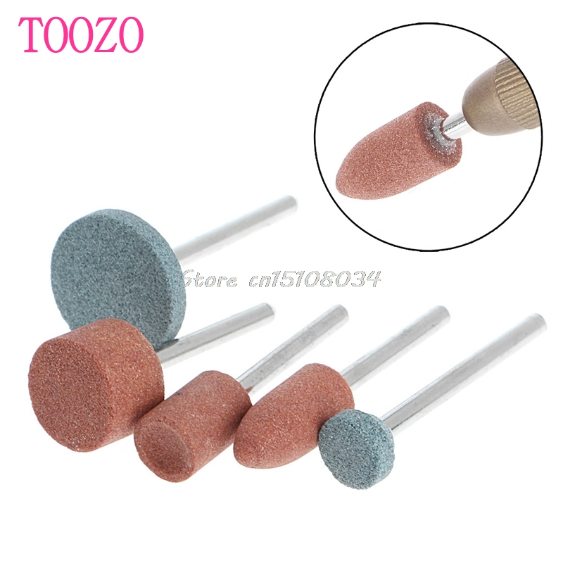 New 5Pcs 3mm Shank Wheel Head Grinding Polishing Electric Grinder Power Tool #S018Y# High Quality 12pc multi shaped grinding electric grinder wool polished head bit with 3mm handle