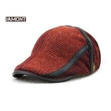 JAMONT Brand Winter Hats for Men Berets Visors Cap Warm Patc