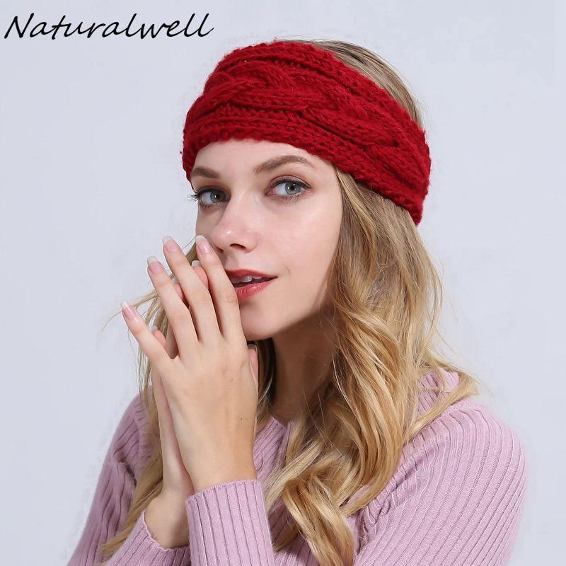 Naturalwell Crochet Ear Warmer Neck Warmer Women s Head Warmer Knit Turban women twist Headband bulky