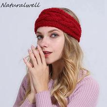 Naturalwell Crochet Ear Warmer, Neck Warmer, Women's Head Warmer, Knit Turban women twist Headband bulky winter hat WH060