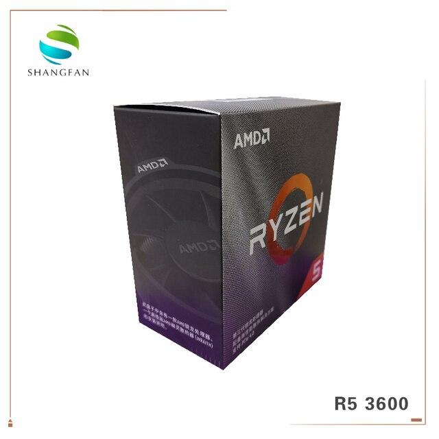 Neue Box AMD Ryzen 5 3600 R5 3600 3,6 GHz 6 Core 12 Gewinde CPU Prozessor 7NM 65W L3 = 32M 100 000000031 Buchse AM4 Mit kühler fan