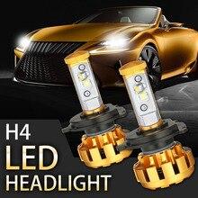 Rambowill 2 Unids/set H4 Linterna Del Coche 80 W 7200LM CREE Chips Led Luz de conducción Luz de Niebla Bombillas Auto Haz Hi-lo Para Honda Toyota