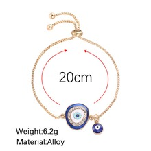 Turkish Blue Crystal Evil Eye Lucky Jewelry Bracelets