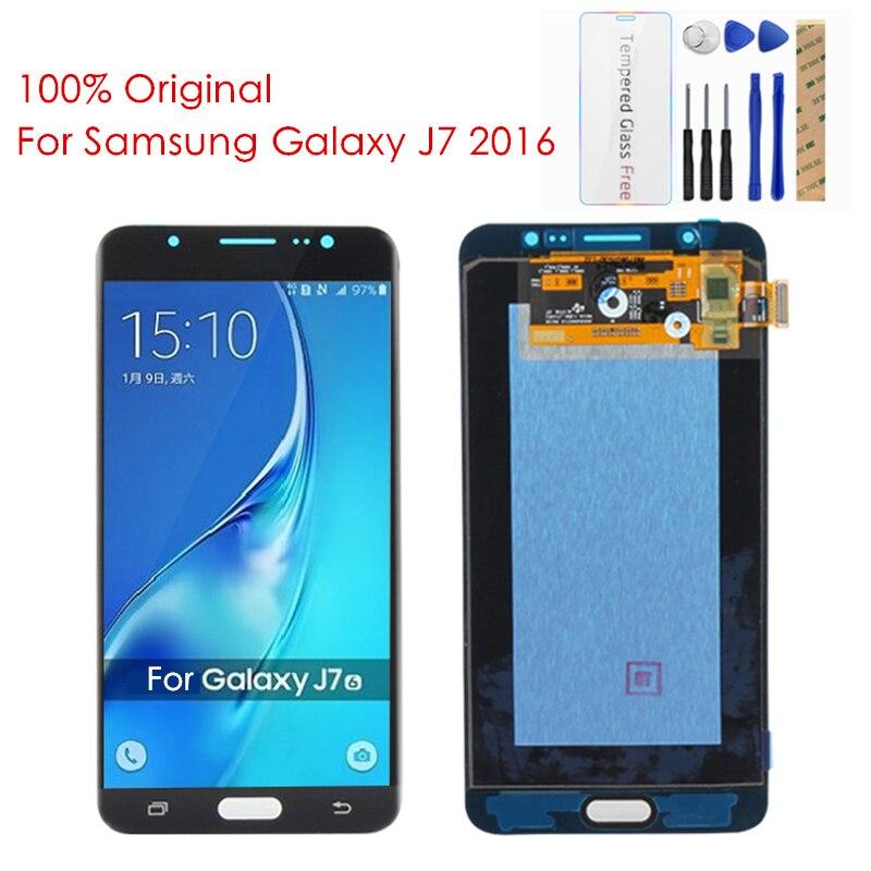 100 Original For Samsung Galaxy J7 2016 LCD Display Screen For Galaxy J7 2016 J710 LCD