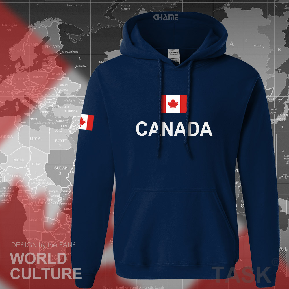 Canada 17 hoodies men sweatshirt sweat new streetwear clothing jerseys footballer tracksuit nation Canadians flag fleece CA 8