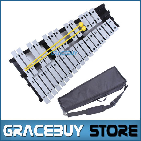 30 Note Xylophone Piano Fleet Foldable Glockenspiel Vibraphone New Music Knock e Piano Percussion Instrument And Paino Bag купить