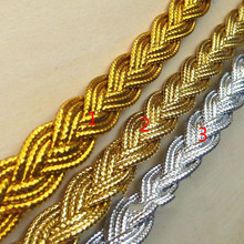 14Yards Gold Silver Light Curve Lace Trim DIY Sewing Centipede Braided Ribbon Craft Party Decoration