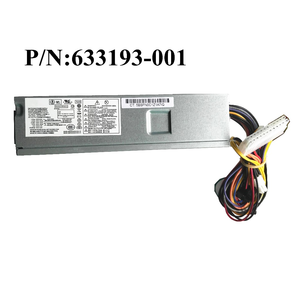 For HP Desktop Power Supply 270W PCA222 PCA227 322PS 6221 FH ZD27 633195 001 633196 001