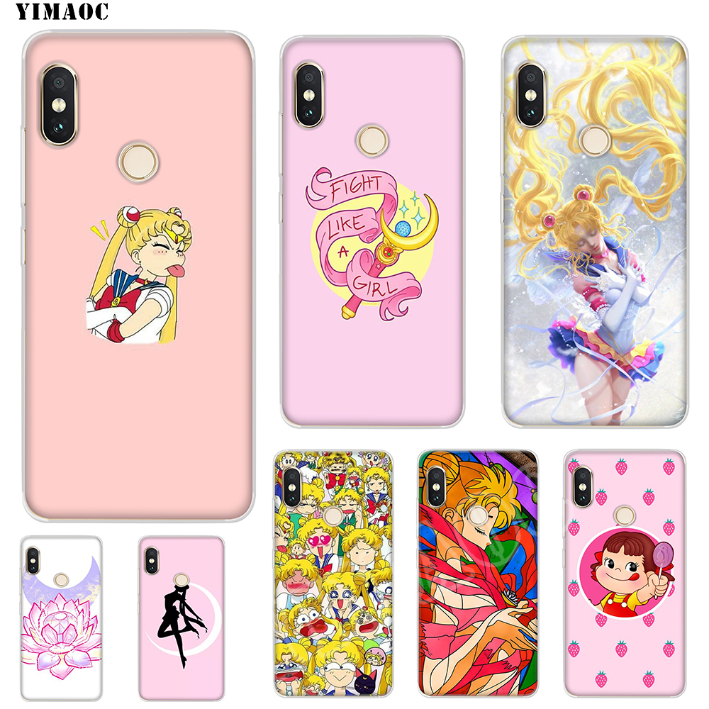 Half-wrapped Case 220sd Fashion Cartoon Sailor Moon Case Cover Soft Silicone Tpu Cover Phone Case For Xiaomi Redmi 4a 4x Note 4 4x Mi A1 A2 Lite