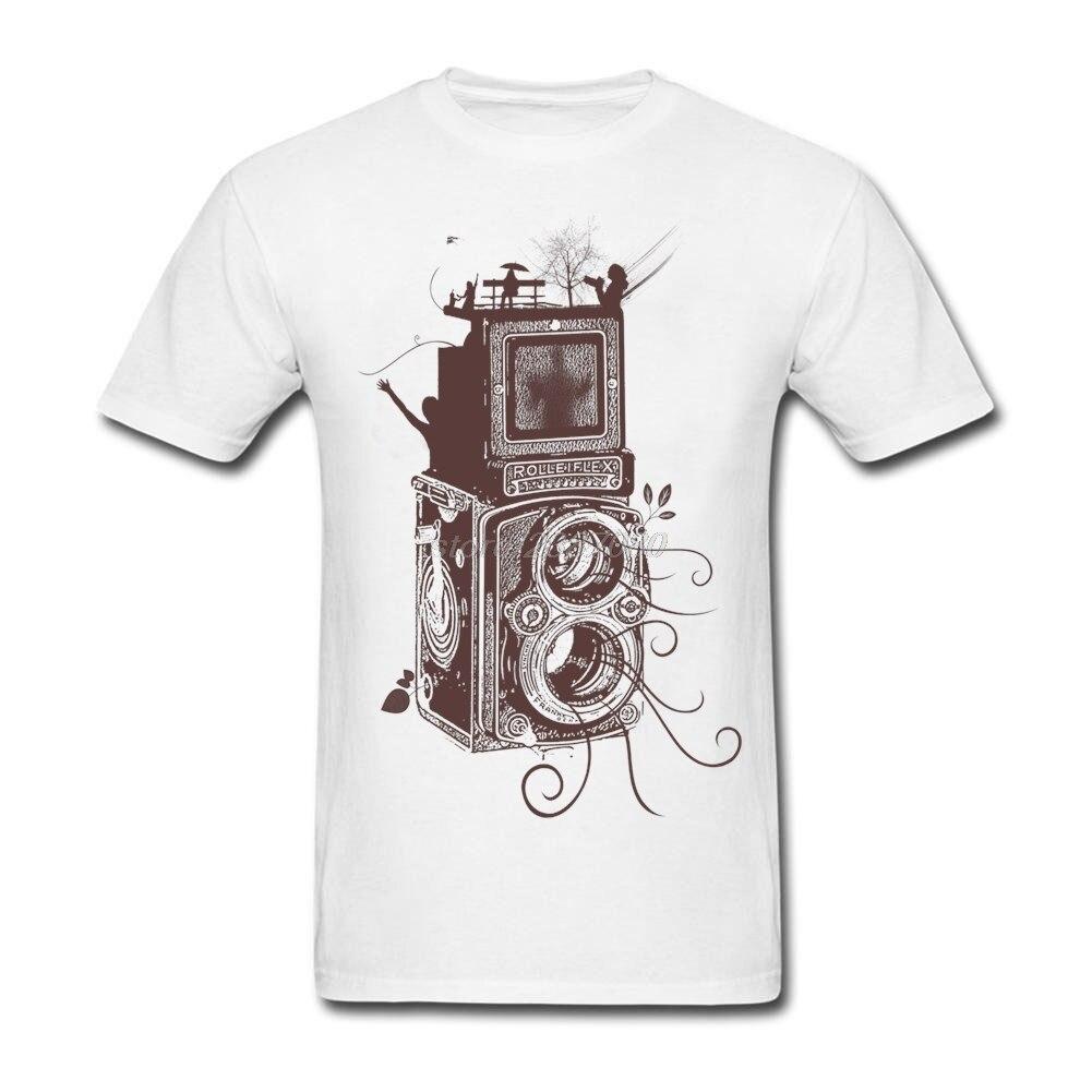 Design t shirts and sell online - Custom Made Retro Rolleiflex Evolution Of Photography T Shirts Man Crewneck Tee Shirt Design Hot Sale Cotton Mens T Shirts