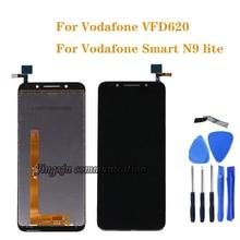 """5.34 """"vodafone akıllı N9 lite LCD dokunmatik ekranlı sayısallaştırıcı grup için vodafone VFD620 vf 620 vfd 620 LCD ekran Onarım parçaları"""
