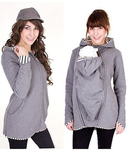 Warm Cotton Women's Maternity Carrier Baby Holder Jacket Kangaroo Carrier Baby HolderJackets Hoodies Outwear Pregnancy Coat