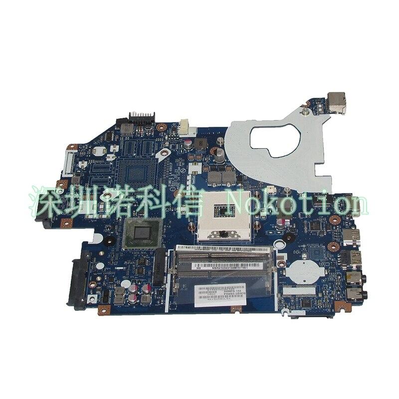NOKOTION P5WE0 LA-6901P Laptop Motherboard For Acer 5750 5750G Series MBR9702003 MB.R9702.003 HM65 Main board full test nokotion laptop motherboard for acer aspire 5750 5750g mbrcg02006 p5we0 la 6901p mb rcg02 006 gt540m ddr3 mainboard