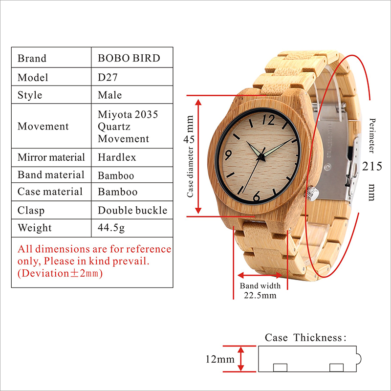 wooden bobo bird mens watches new gifts arrival (5)