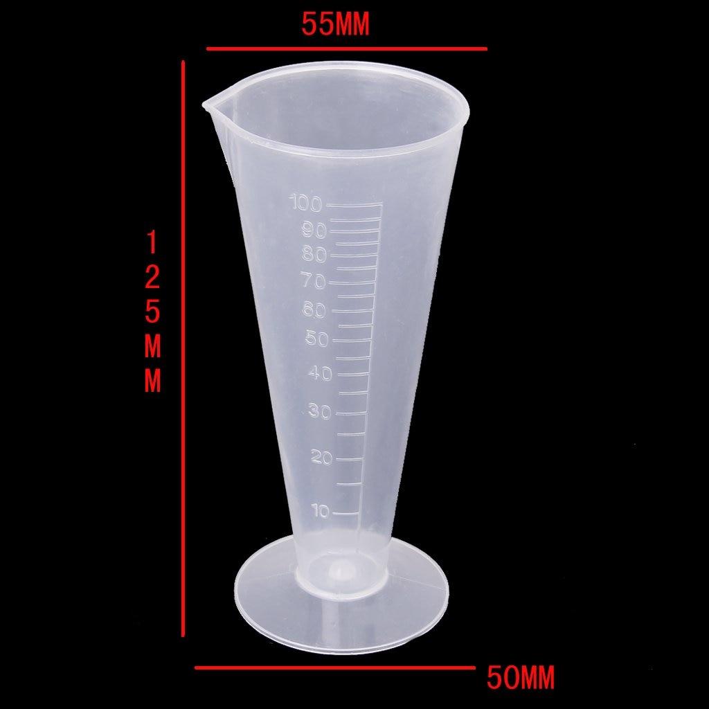 Taza de medir plástica asequible de la taza de medición de la - Escuela y materiales educativos