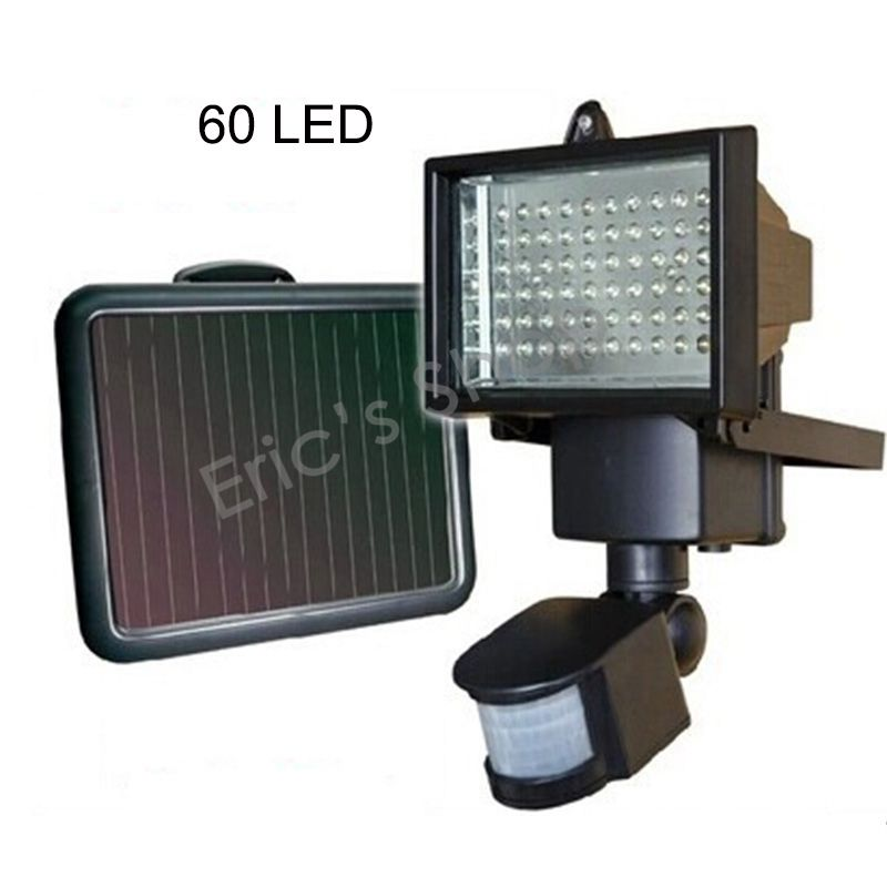ФОТО Waterproof LED Solar Sensor Lighting 60LED Solar Garden Floodlight LED Corridor Lamps IP65 2W 6V
