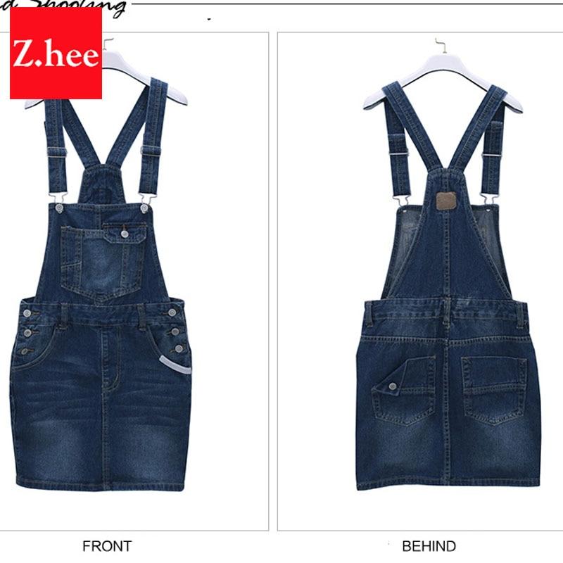 Aliexpress.com : Buy Summer Overalls Denim Skirts High School Mini ...