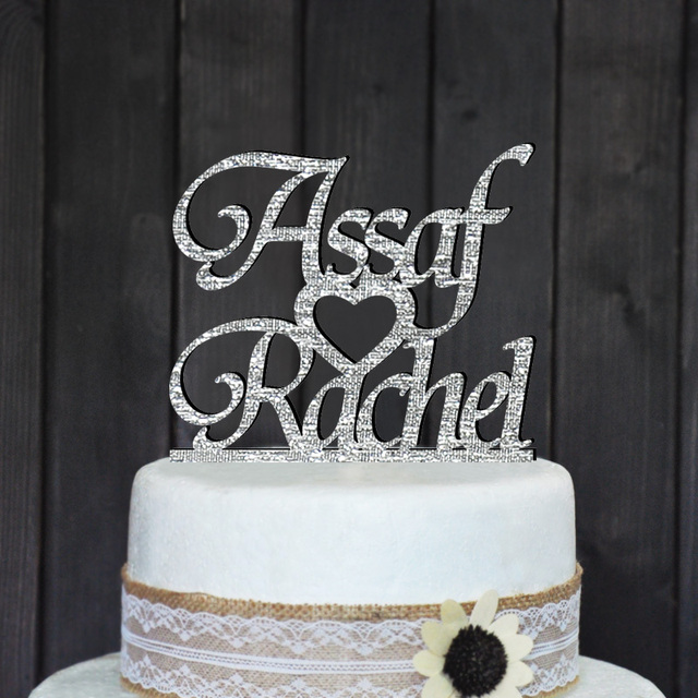 Personalized Wedding Cake Topper Custom Cake TopperWedding
