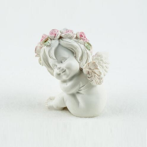 Silicone Mold Lovely Angel with Flower Wreath Shape Fondant Cake Mold Handmade Soap Candle Mold Handicraft Clay Mold in Clay Extruders from Home Garden