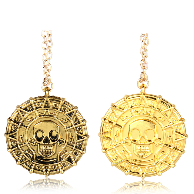 European and American Movie Pirates of the Caribbean Necklace Skulls