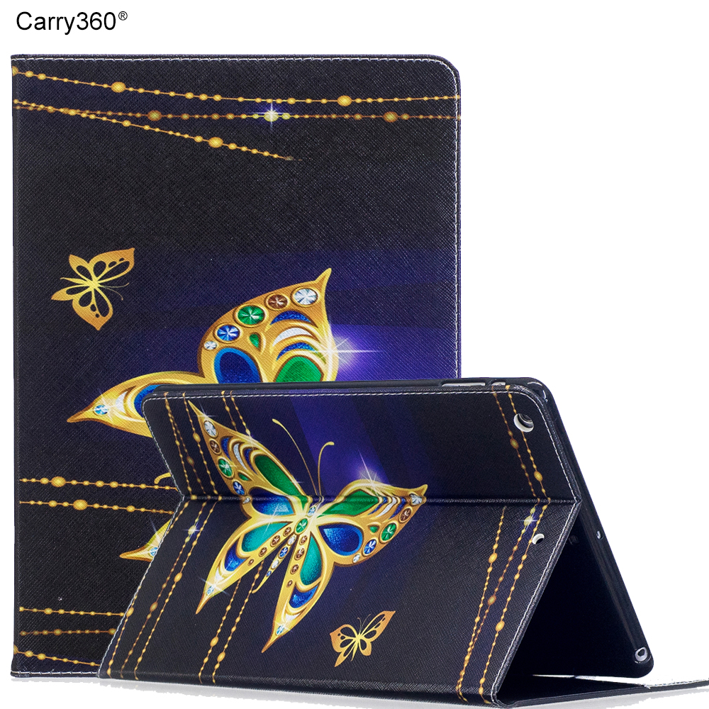 Case for iPad Air, Carry360 Color Print PU Leather Stand Wallet Card Smart Cover Case for Apple iPad Air 1 for iPad 5 case for apple ipad 2017 premium pu leather smart stand case cover for ipad air 2 stand case with hand strap card slots pocket