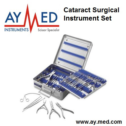 Cataract Surgical Instrument Set - Surgical Surgery Scissors childhood cataract