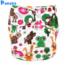 Baby Washable Cloth Diaper AIO Nappy Waterproof Reusable Pockets Cloth Diaper Christmas Printed Cloth Diapers With Insert Nappy