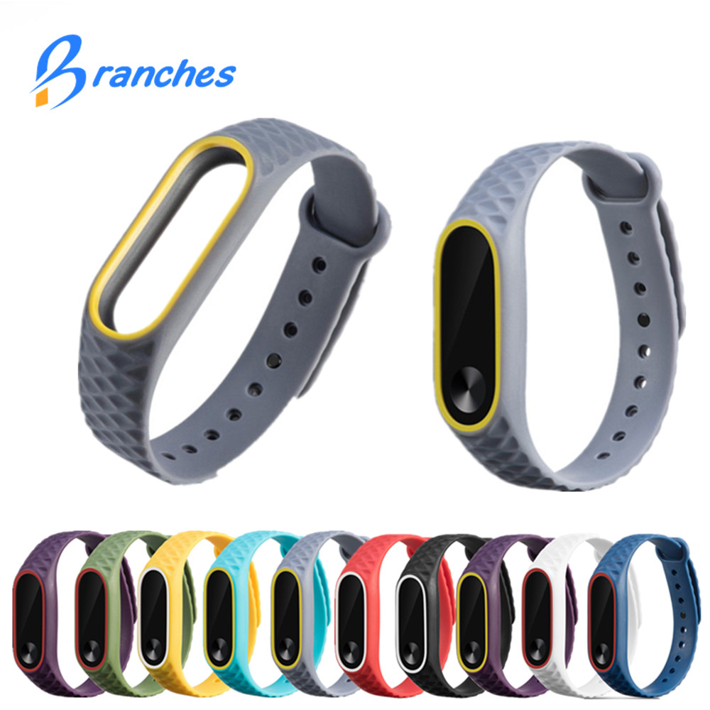 Mi Band 2 Strap Bracelet Colorful Strap For Xiaomi miband 2 Wristband Replacement Smart Band Accessories For Mi Band 2 Silicone