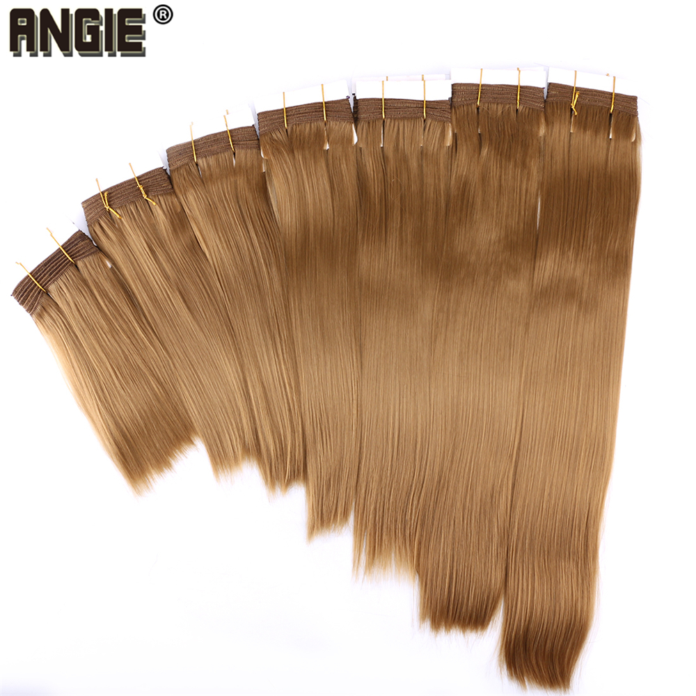 Angie Synthetic Hair Weave Silky Straight Hair Bundle Fiber Hair Extensions For Women 8-20 Inch