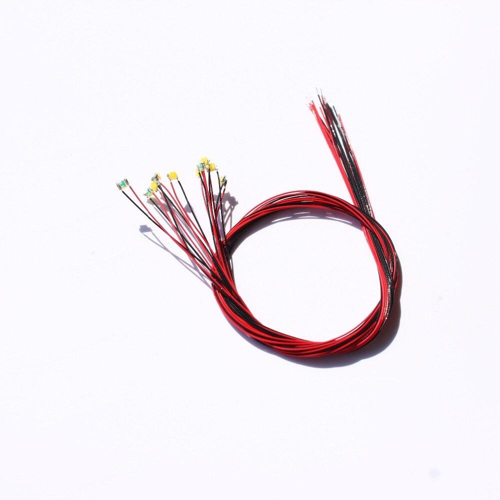 0805 Pre-gelötet Micro Litz Verdrahtete Führt Smd Led Warm Weiß 10 Stücke 860026/laisdcc Marke