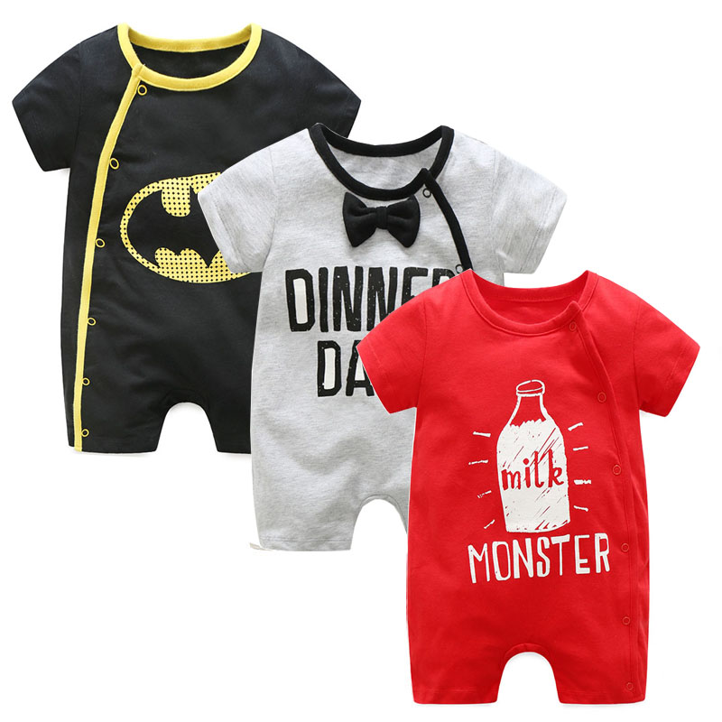 Baby Rompers Newborn Baby girl boy clothes Cotton Cartoon printing Short sleeve Baby jumpsuit  roupas de bebe Baby costume cotton baby rompers infant toddler jumpsuit lace collar short sleeve baby girl clothing newborn bebe overall clothes