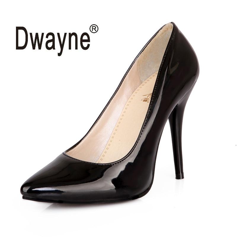 Big Size Women's Shoe 10.5cm High Heels Pumps Party Shoes For Women PU Wedding Shoes chaussure femme A05-42