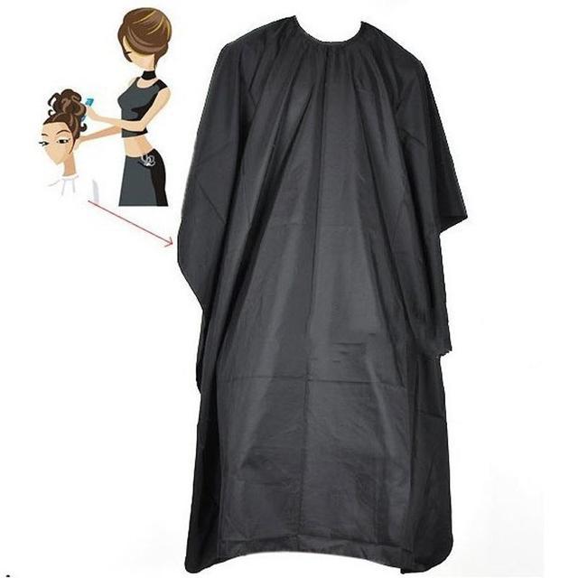 Corte de pelo paño de peluquería gran salón adulto impermeable capa vestido abrigo negro peluquero capa abrigo