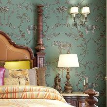 Southeast Asia Retro Imitation Embroidery Wallpaper Auspicious Stripes Non-woven Wall Paper Roll