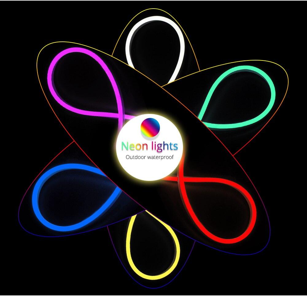 AC 220V светодиодный неоновый светильник Водонепроницаемый Диодная лента лампа 15 м/20 м 25 м гибкий светодиодный неон полосы для светодиодный вывеска трубки Строка светильник - 6