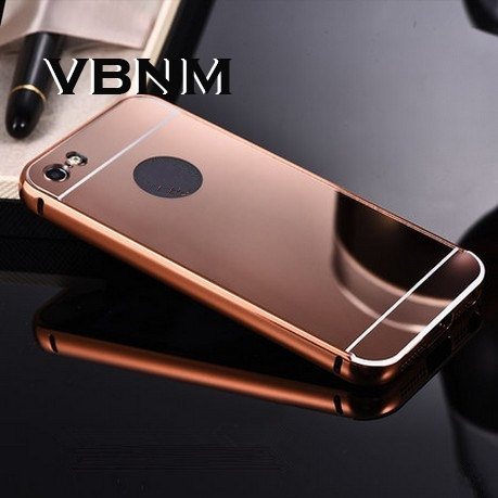 fashion luxury coque Mirror aluminium alloy capinha back cover for i phone5 4.7inch case for Apple iphone 6 s 5 5s 6s plus