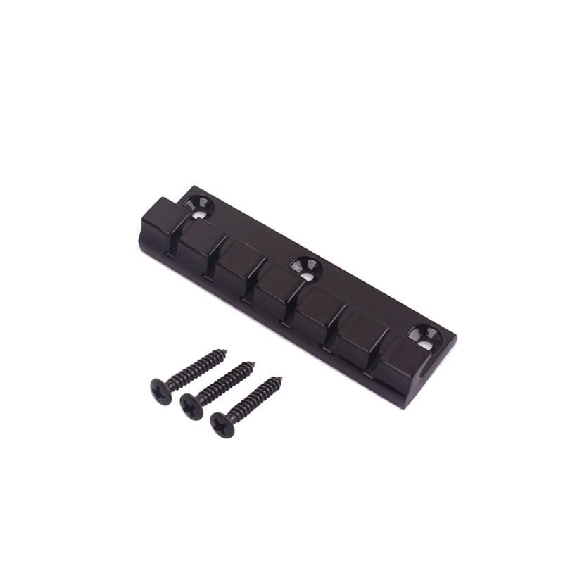 6 Strings Metal Saddle Fixed Bridge Electric Guitar Parts Replacement with Screw 3