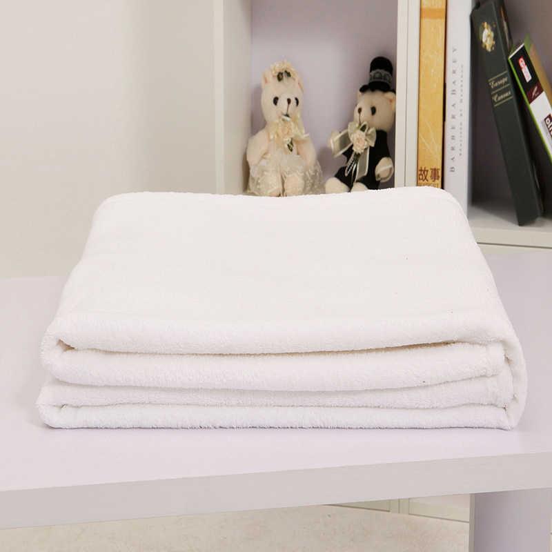 Branca de neve Sólida Cobertor de Lã de Flanela Cobertor Lance Em Para o Sofá Sofá Cama Cobertore 100% Poliéster cobertor Pequenos Cobertores