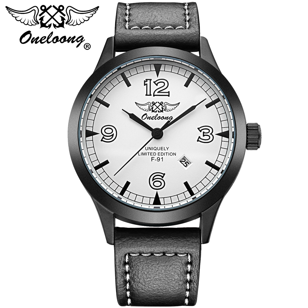 ONELOONG 2017 Mens Watches Top Brand Luxury Men's Quartz Watch Waterproof Sport Military Watches Men Leather Relogio Masculino 2017 new top fashion time limited relogio masculino mans watches sale sport watch blacl waterproof case quartz man wristwatches