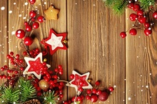 Laeacco Christmas Wooden Board Pine Branch Stars Photography Backgrounds Customized Photographic Backdrops For Photo Studio