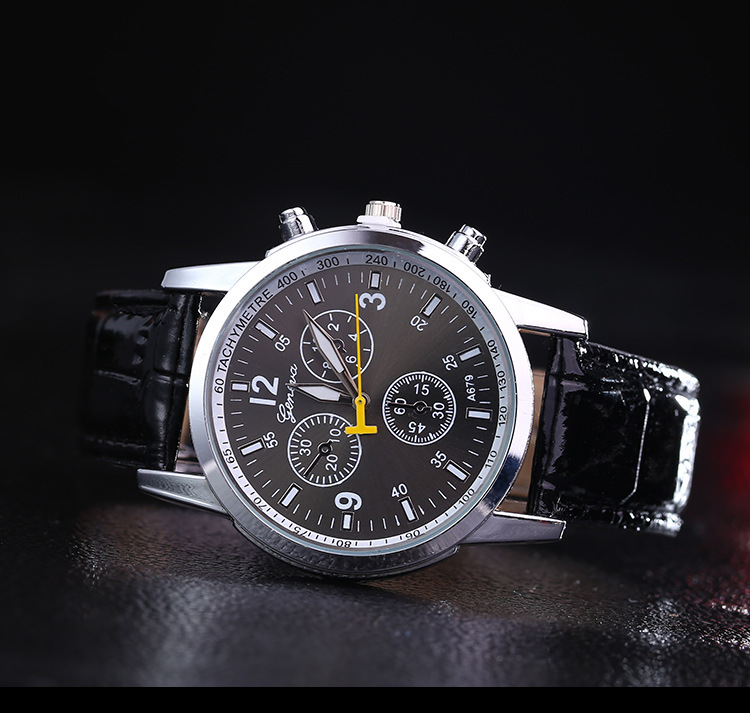 Low price relojes men watch Leather strap Military watches ...