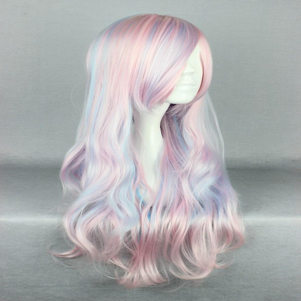 HAIRJOY Synthetic Hair Zipper 70cm Long Wavy Harajuku Lolita Cosplay Wig 18 Colors Available 93
